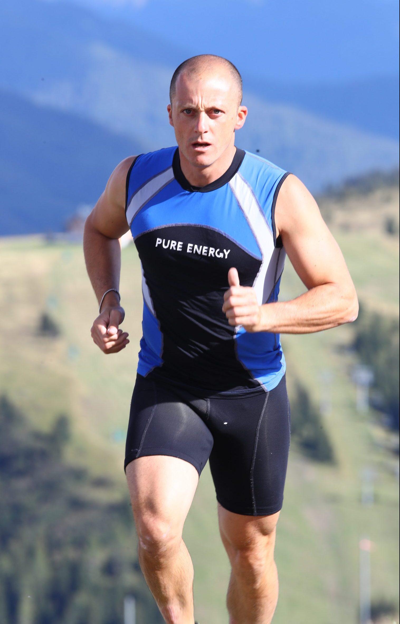 Max durante un allenamento in montagna